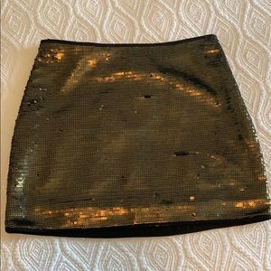 BCBG maxazria metallic gold sequin skirt XXS